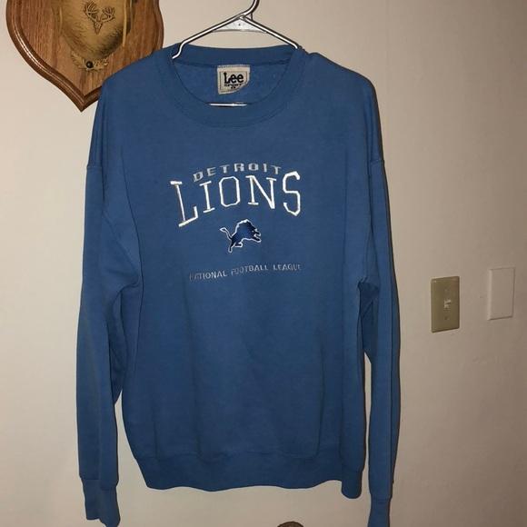 5c521b47 Vintage Old School Detroit Lions Pullover